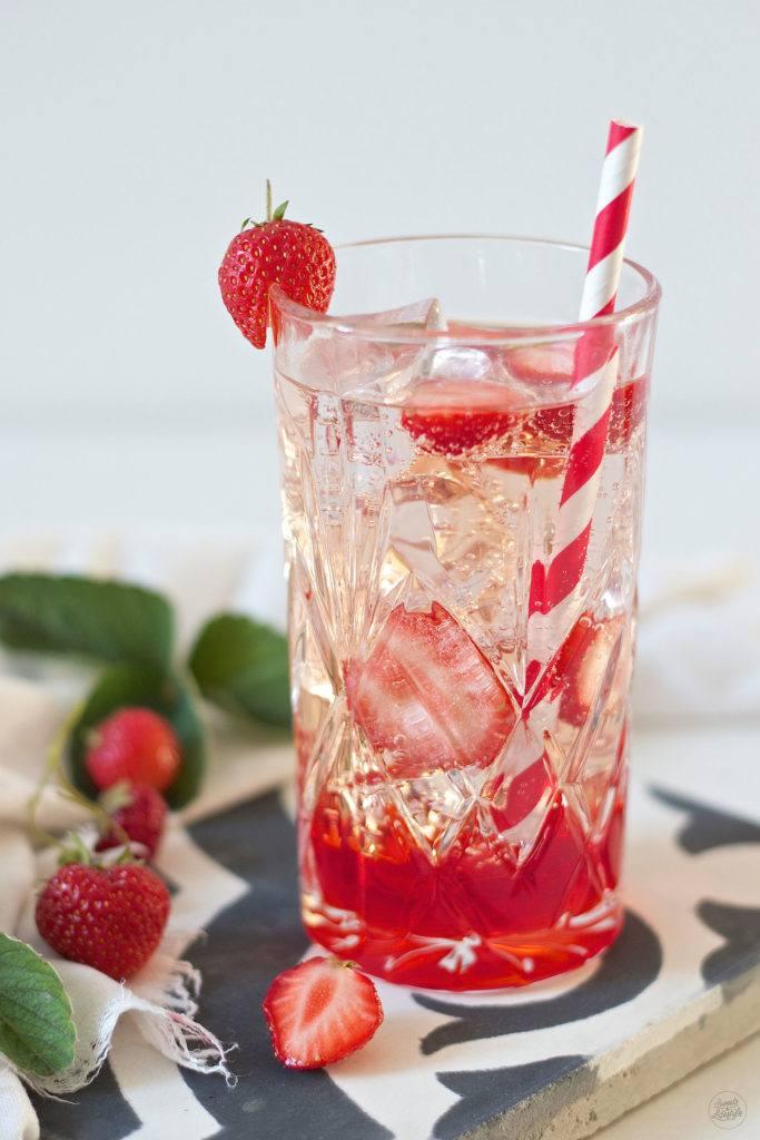 Erfrischender Gin Tonic mit Erdbeeren von Sweets and Lifestyle