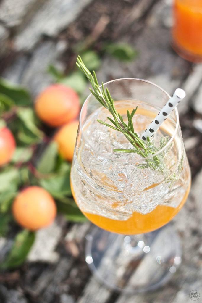 Marillen Spritzer mit selbst gemachten Marillensirup als Feierabend Drink von Sweets and Lifestyle