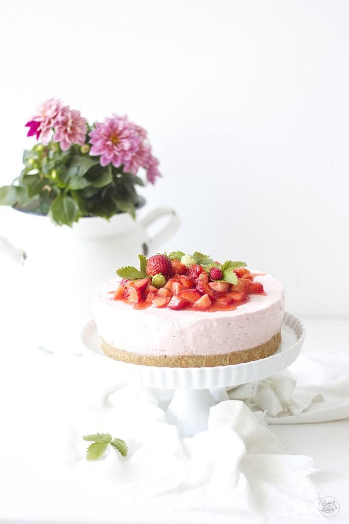 Koestlicher No Bake Erdbeer Cheesecake von Sweets and Lifestyle