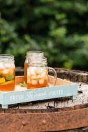 Eisgekühlter, selbst gemachter Holunder Zitronen Eistee mit Minze von Sweets and Lifestyle