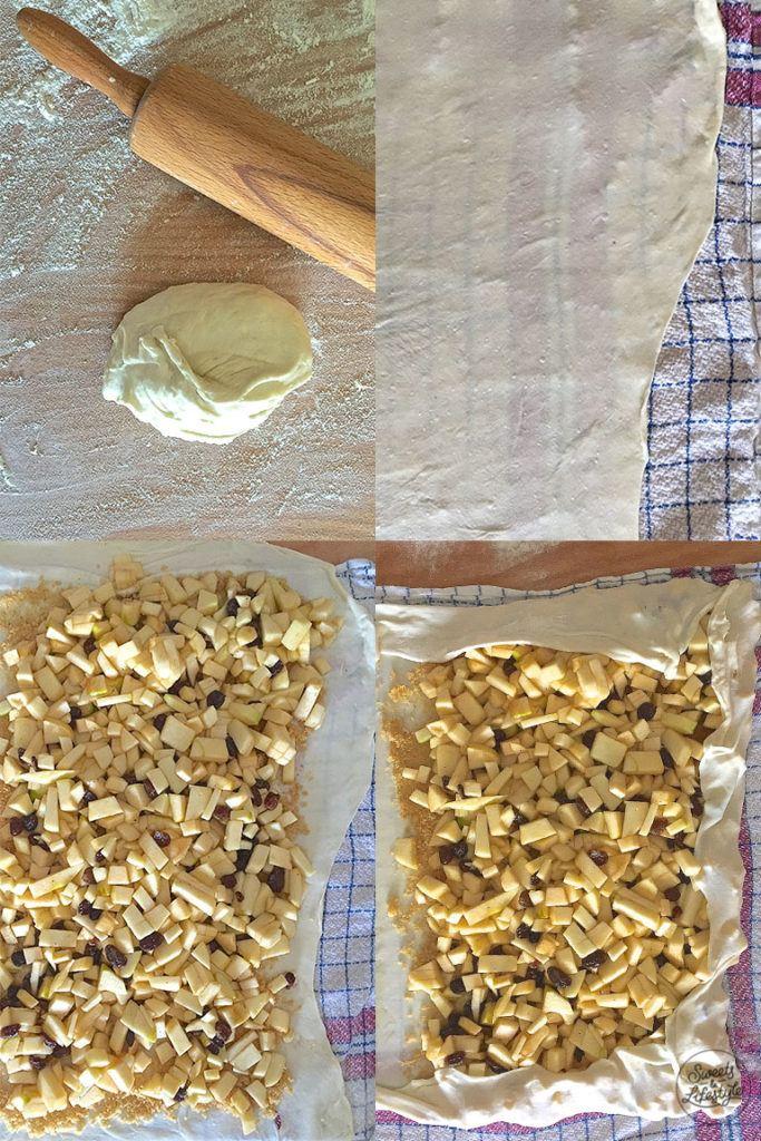 Bildanleitung zum einfachen Verstaendnis fuer Strudelteig fuer Apfelstrudel von Sweets and Lifestyle