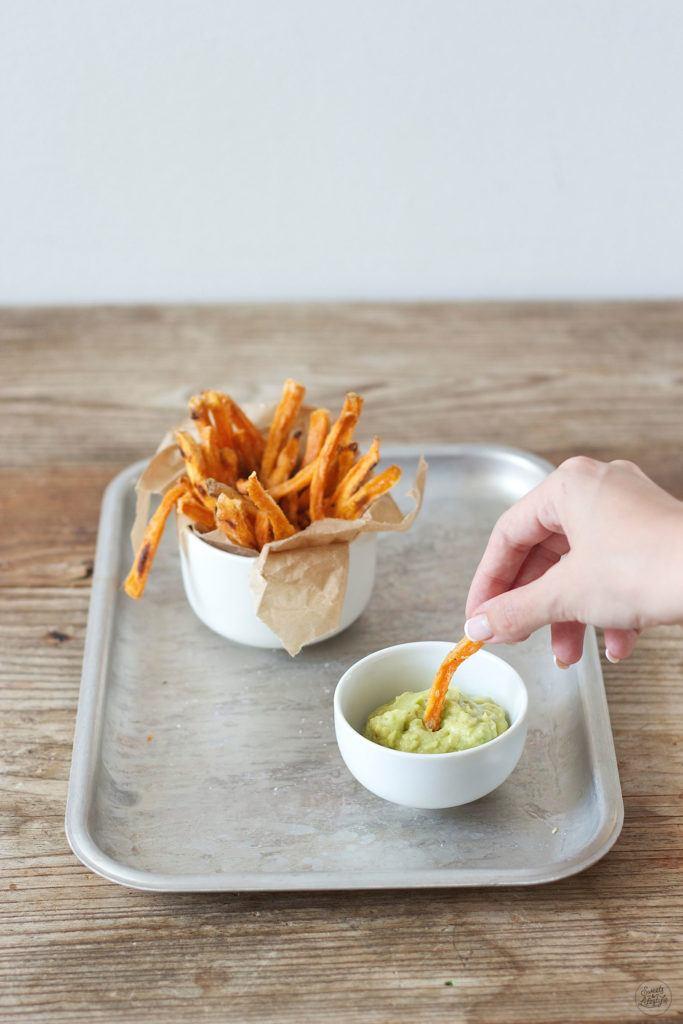 Knusprige, fettarme Suesskartoffelpommes aus dem Backofen von Sweets and Lifestyle