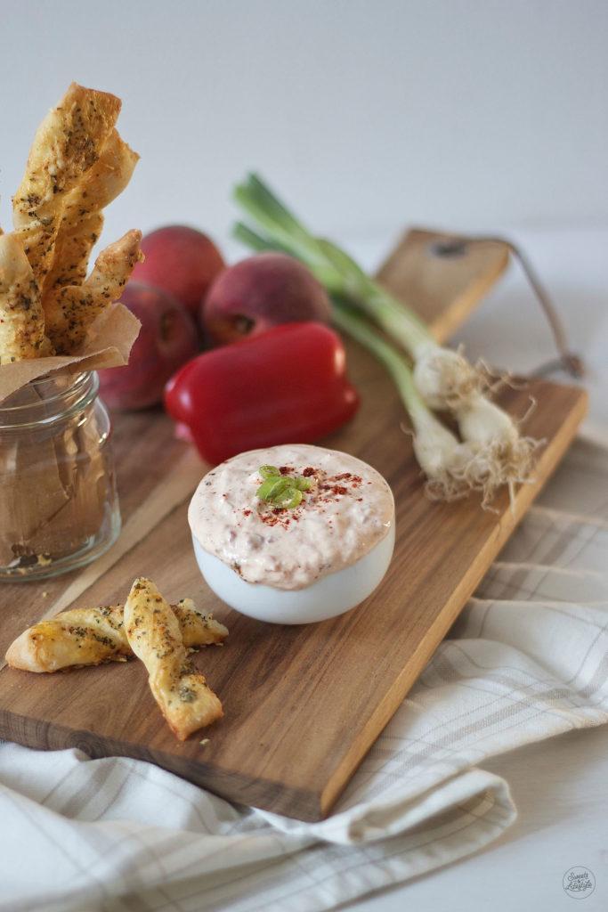 Koestlicher fruchtigsuesser Paprika Pfirsich Dip von Sweets and Lifestyle