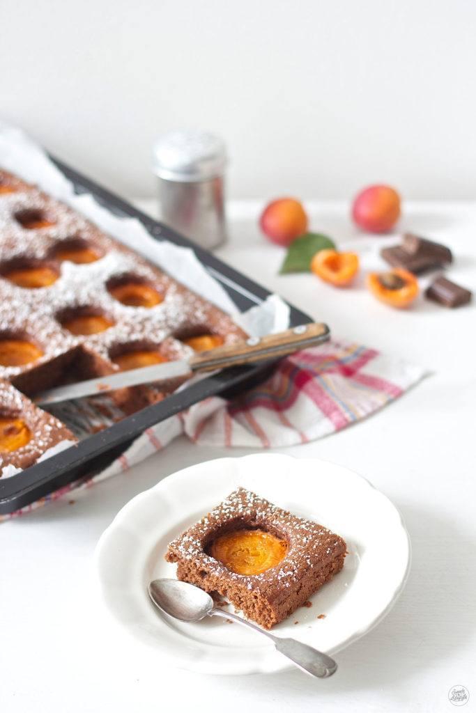 Leckerer Schoko Marillen Blechkuchen von Sweets and Lifestyle