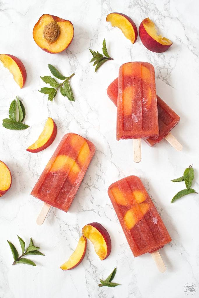 Leckeres Pfirisch Eistee Popsicle Rezept von Sweets and Lifestyle