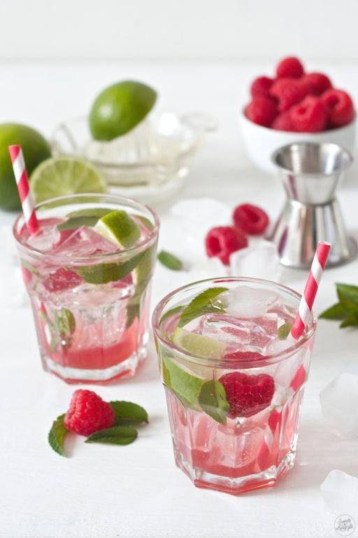 Raspberry Mojito mit selbst gemachten Himbeersirup von Sweets and Lifestyle