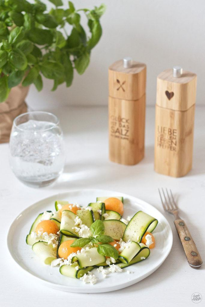 Leckeres Zucchini Melonen Salat Rezept von Sweets and Lifestyle