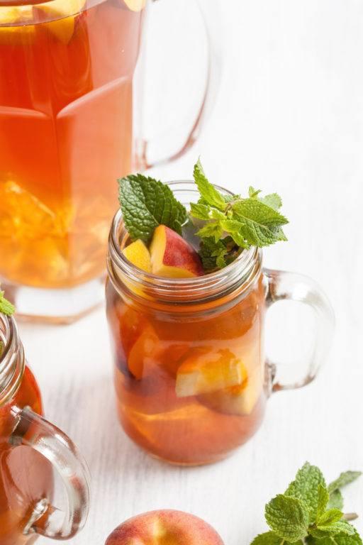Sommerlicher rfrischender Pfirsicheistee von Sweets and Lifestyle