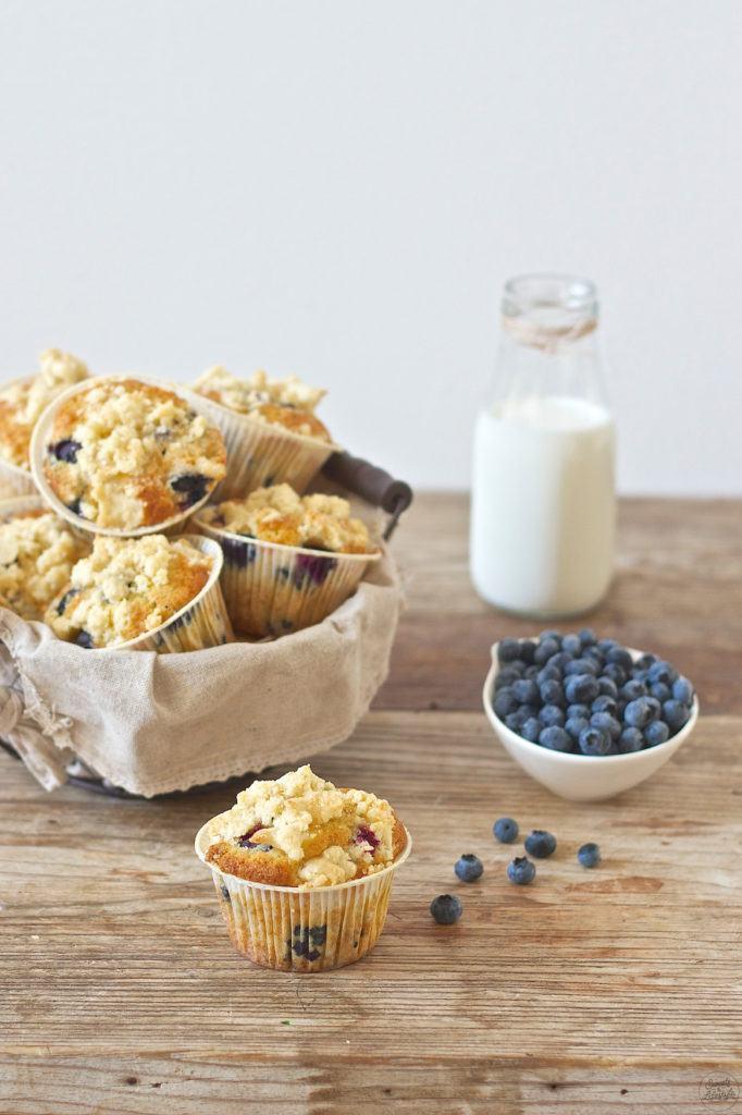 Koestliche Heidelbeermuffins mit Streusel die schmecken wie in den USA von Sweets and Lifestyle