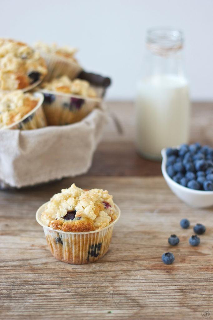 Leckerer Heidelbeermuffin der schmeckt wie die in den USA von Sweets and Lifestyle