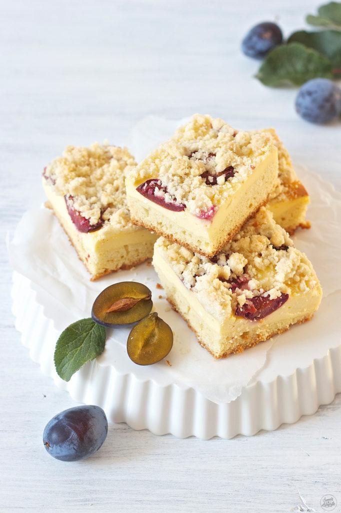 Leckerer Zwetschken Topfen Kuchen vom Blech kreiert von Sweets and Lifestyle
