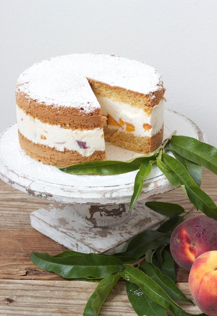 Leckere Topfen Pfirisch Torte von Sweets and Lifestyle
