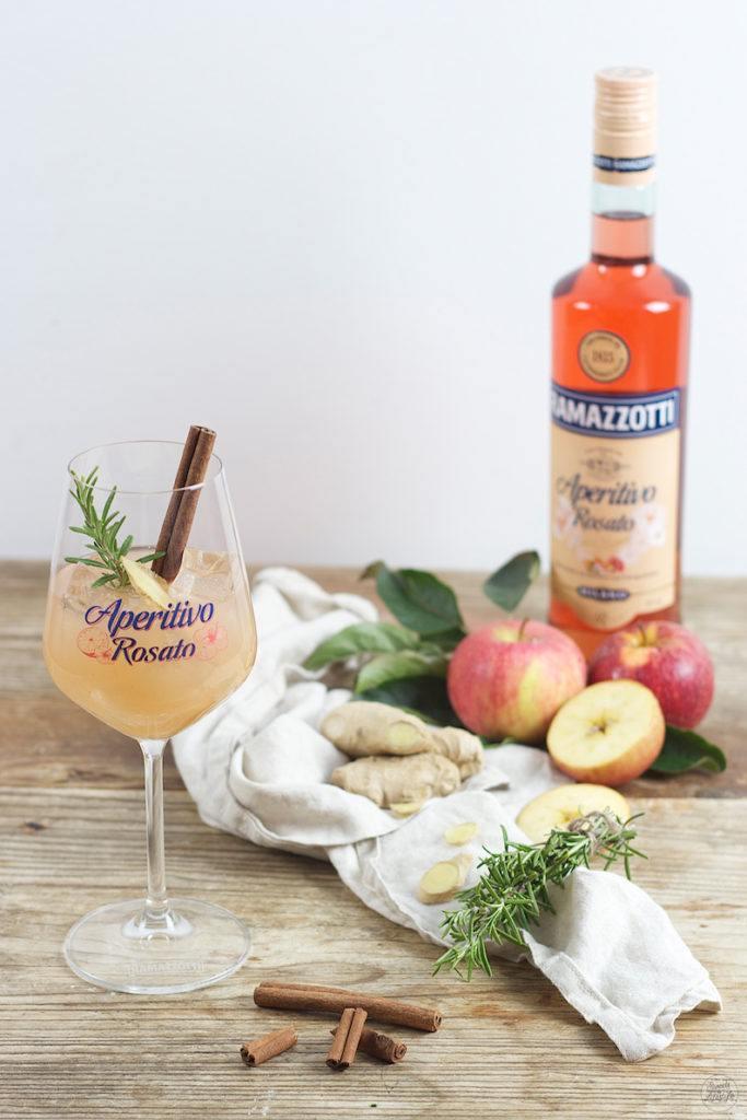 Leckerer Apfel Ingwer Aperitivo kreiert von Sweets & Lifestyle