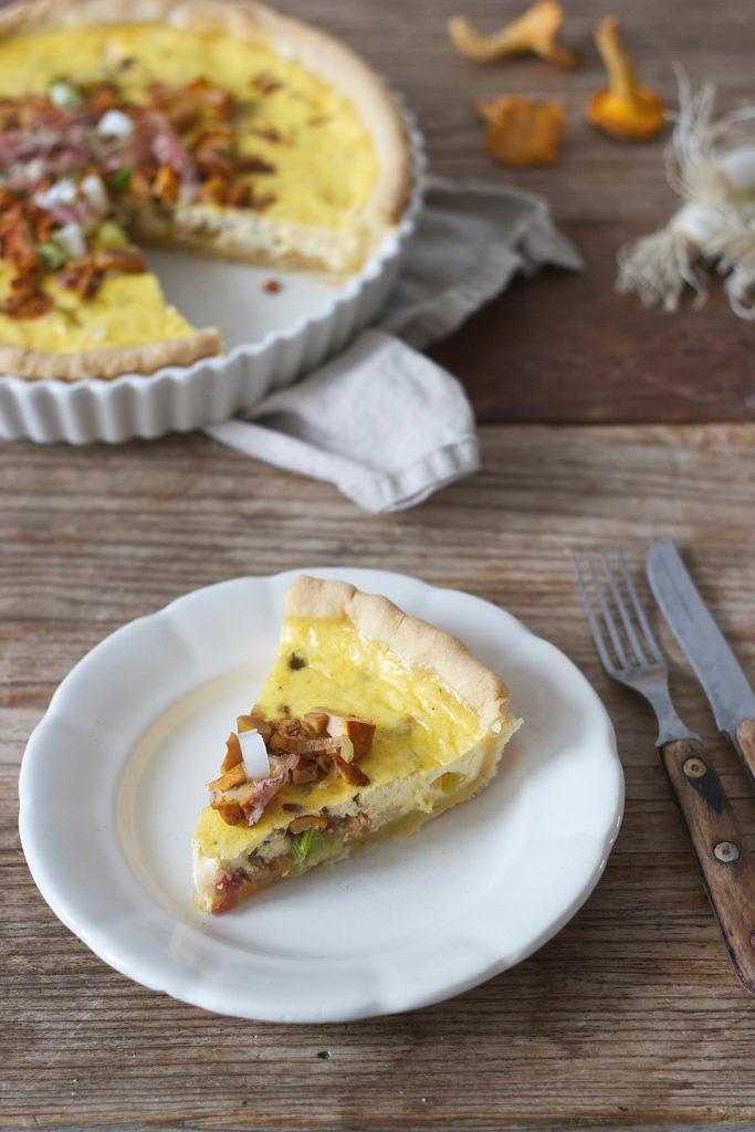 Leckere Eierschwammerl Quiche mit Muerbteig von Sweets & Lifestyle