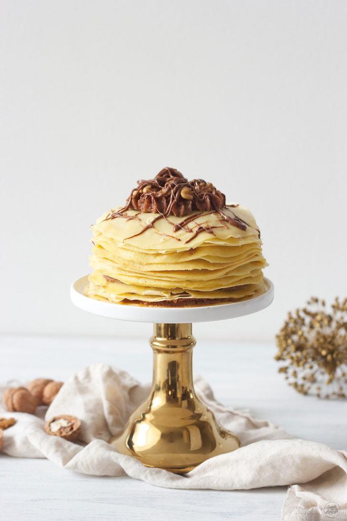 Leckere Palatschinkentorte mit Nuss-Nougat-Fülle von Sweets and Lifestyle