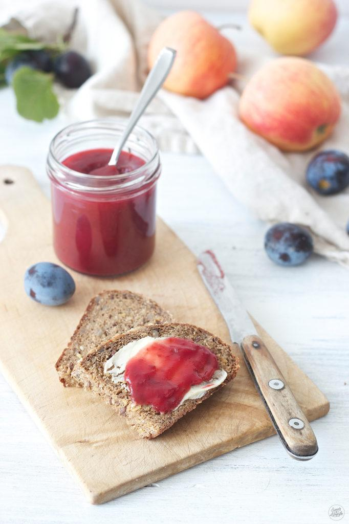 Leckere Zwetschken-Apfel-Marmelade von Sweets & Lifestyle