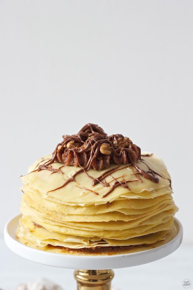 Palatschinkentorte gefuellt mit Nuss-Nougat-Creme von Sweets & Lifestyle