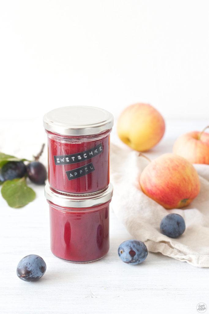 Zwetschken-Apfel-Marmelade nach einem Rezept von Sweets and Lifestyle
