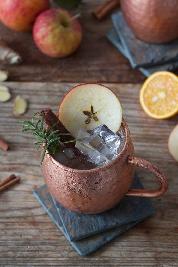 Erfrischende herbstliche Apple Moscow Mule Sweets & Lifestyle®