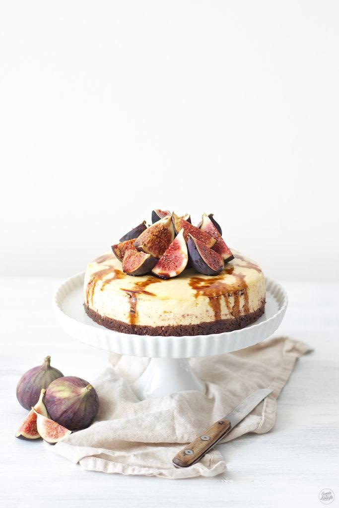 Vanille Cheesecake mit Feigen und Balsamico von Sweets & Lifestyle