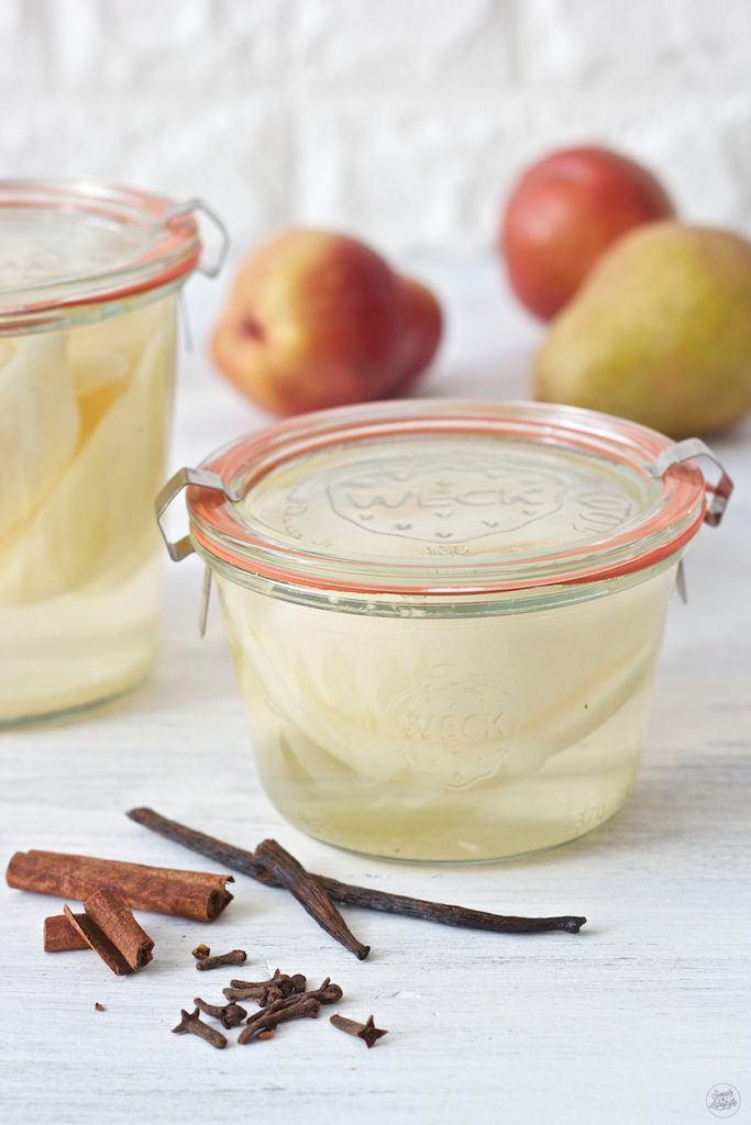 Hausgemachtes Birnenkompott nach einem Rezept von Sweets & Lifestyle®