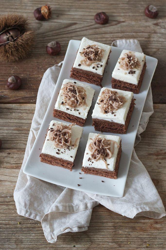 Schoko Maronischnitte mit Schoko Maroni Mousse und Maronireis nach einem Rezept von Sweets & Lifestyle®