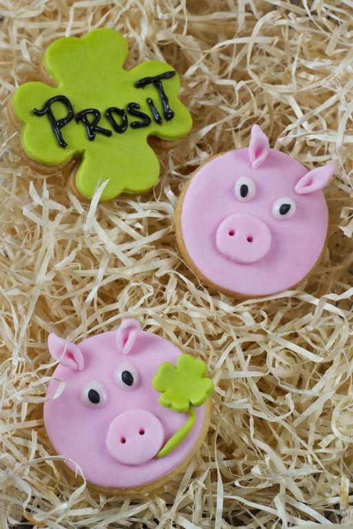 Mürbteig Glücksschweine als Neujahrsglücksbringer von Sweets & Lifestyle®
