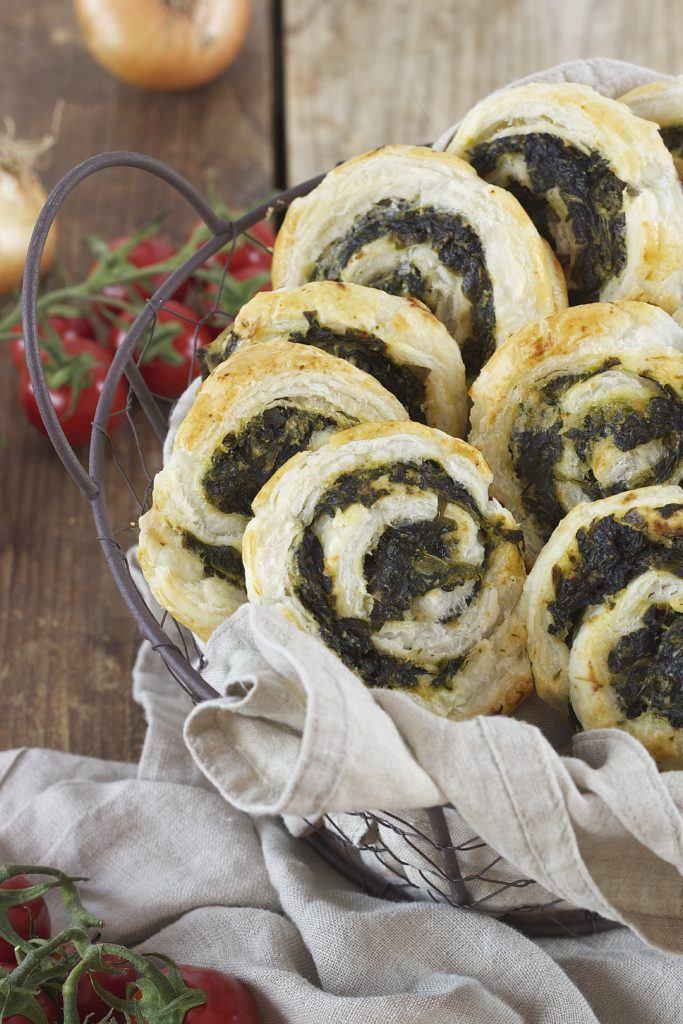 Vegetarische Blätterteigschnecken mit Spinat und Feta von Sweets & Lifestyle®
