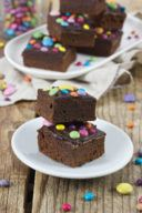 Brownies mit Smarties Rezept von Sweets & Lifestyle®