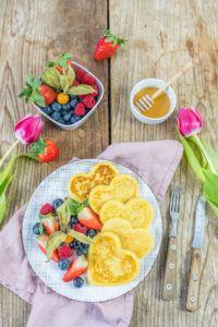 Buttermilch Pancakes in Herzform von Sweets & Lifestyle®