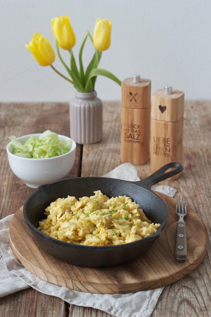 Selbst gemachte Eiernockerl mit grünem Salat von Sweets & Lifestyle®