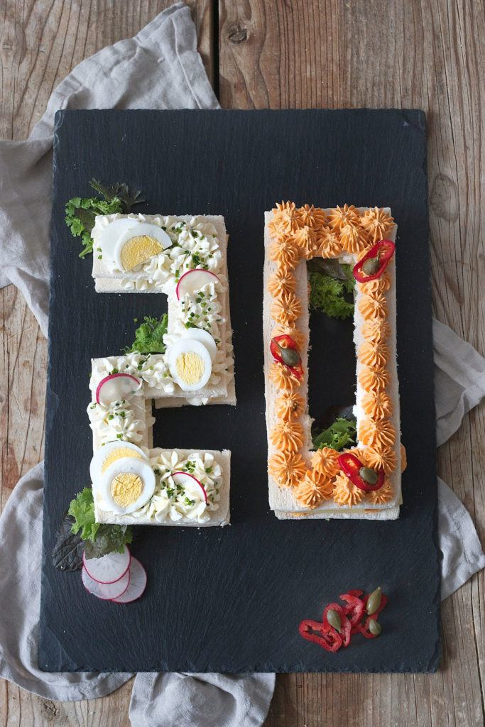 Der Food Trend 2018 Number Cake in pikanter Variante, als Zahlen Brottorte von Sweets & Lifestyle®