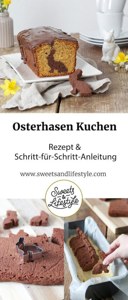 Osterhasen Kuchen Rezept - Kuchen mit Hasenform backen - Easter cake with a surprise bunny inside from Sweets & Lifestyle®