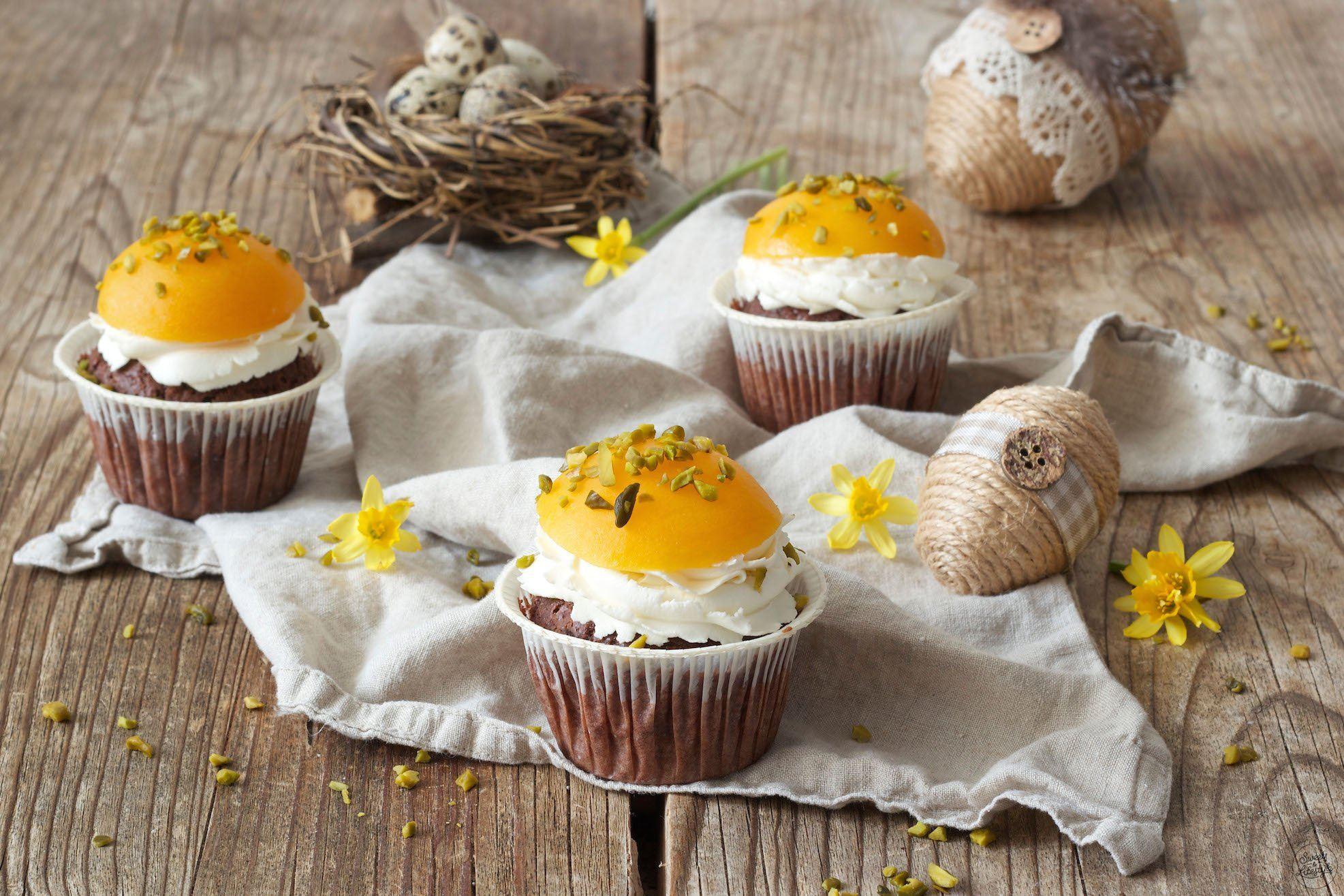 Spiegelei Cupcakes Ostercupcakes Sweets Lifestyle