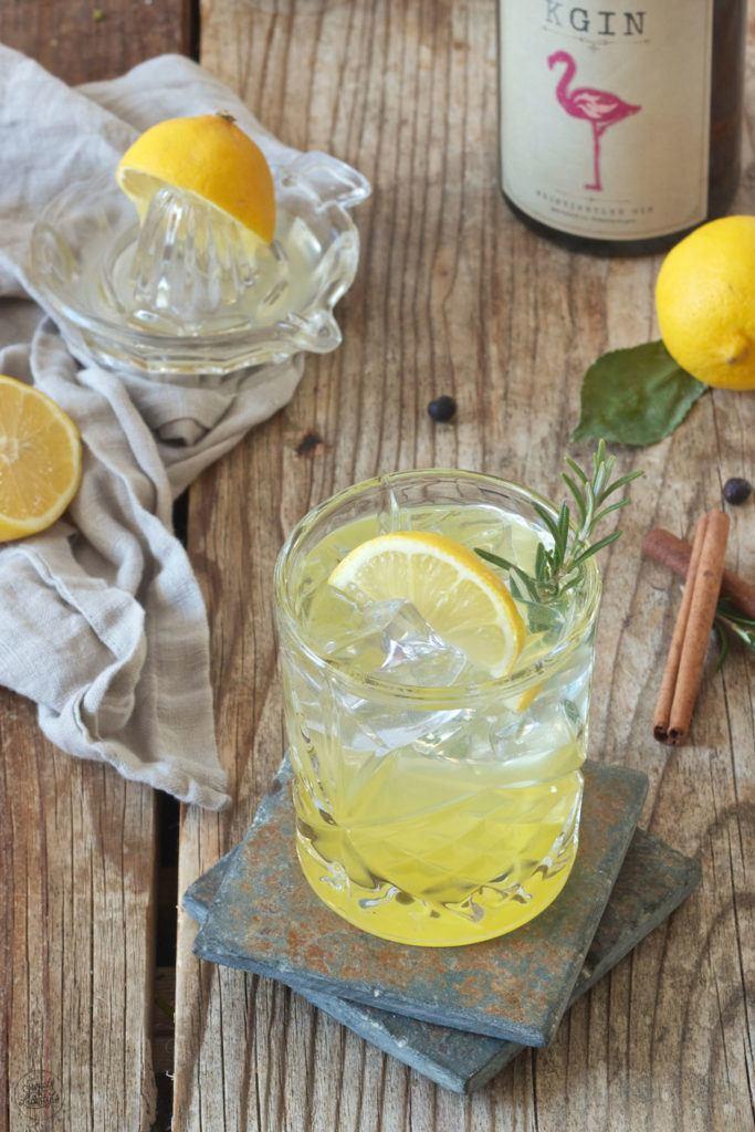 Erfrischender Gin Fizz mit Weinviertel Gin der Brennerei Kraus und Zitronensirup von Sweets & Lifestyle®