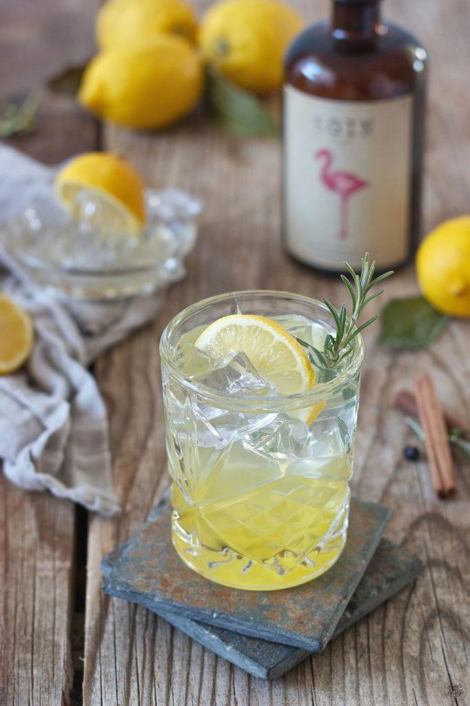 Gin Fizz hergestellt aus dem Weinviertel Gin der Brennerei Kraus und selbst gemachten Zitronensirup von Sweets & Lifestyle®