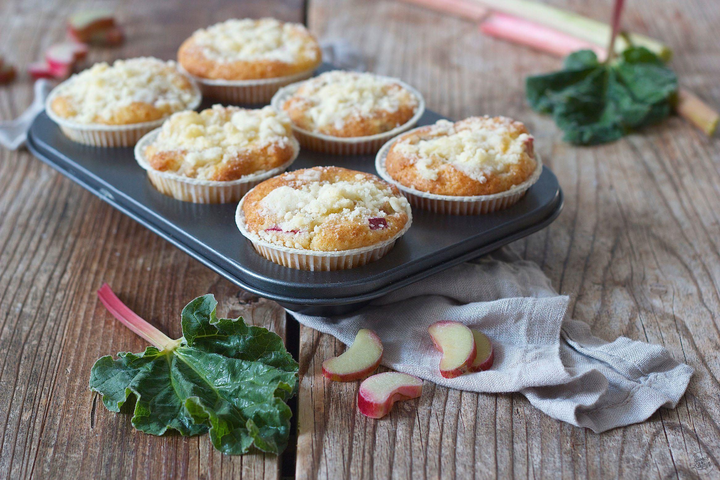 Rhabarber Muffins Streusel