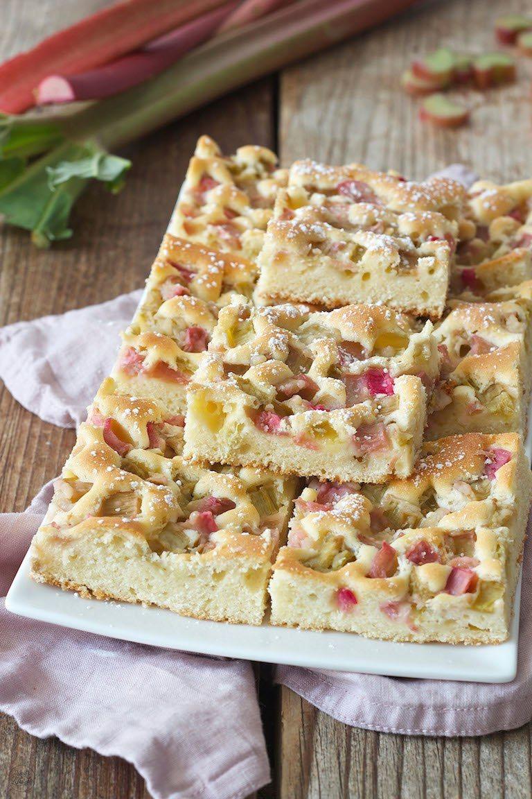 Rhabarberkuchen Blechkuchen Rezept Sweets Lifestyle