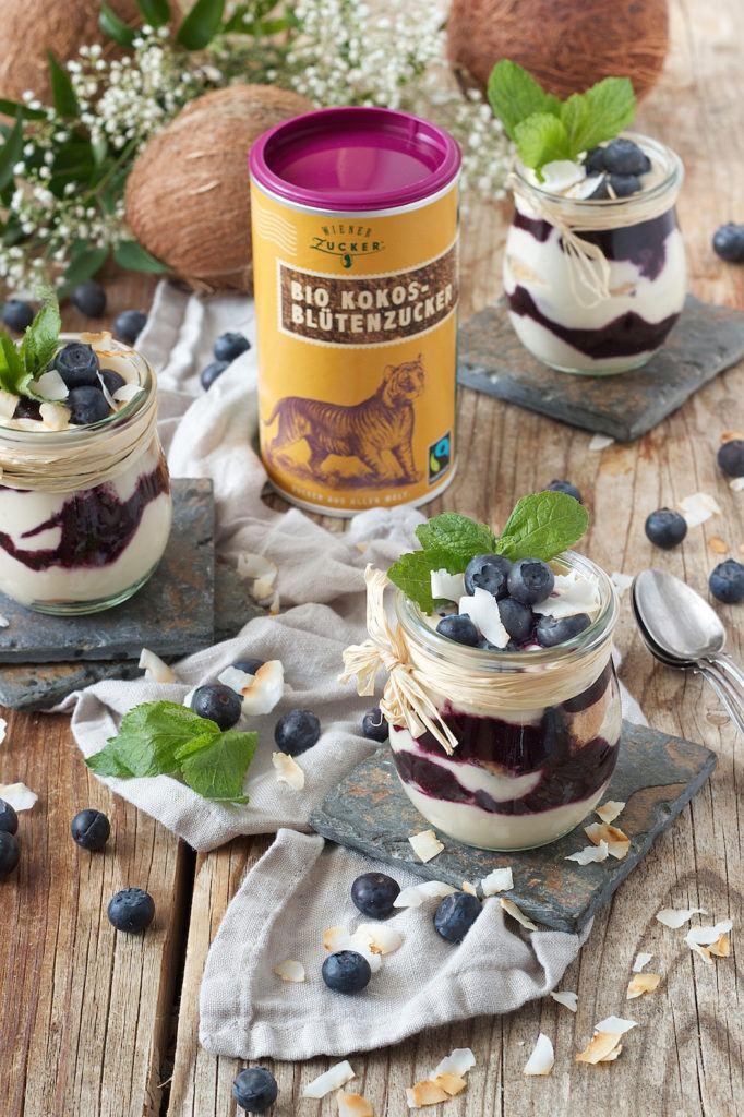Heidelbeer Tiramisu mit Bio Kokosblütenzucker von Wiener Zucker verfeinert vonSweets & Lifestyle®