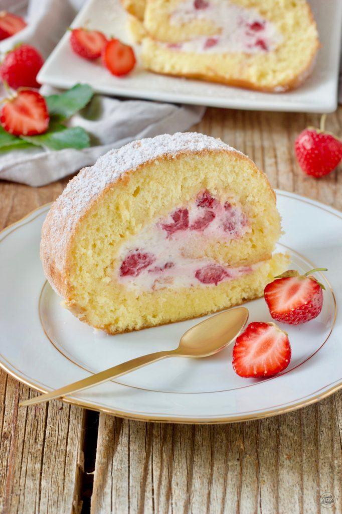 Leckere Erdbeerrolle nach einem Rezept von Sweets & Lifestyle®