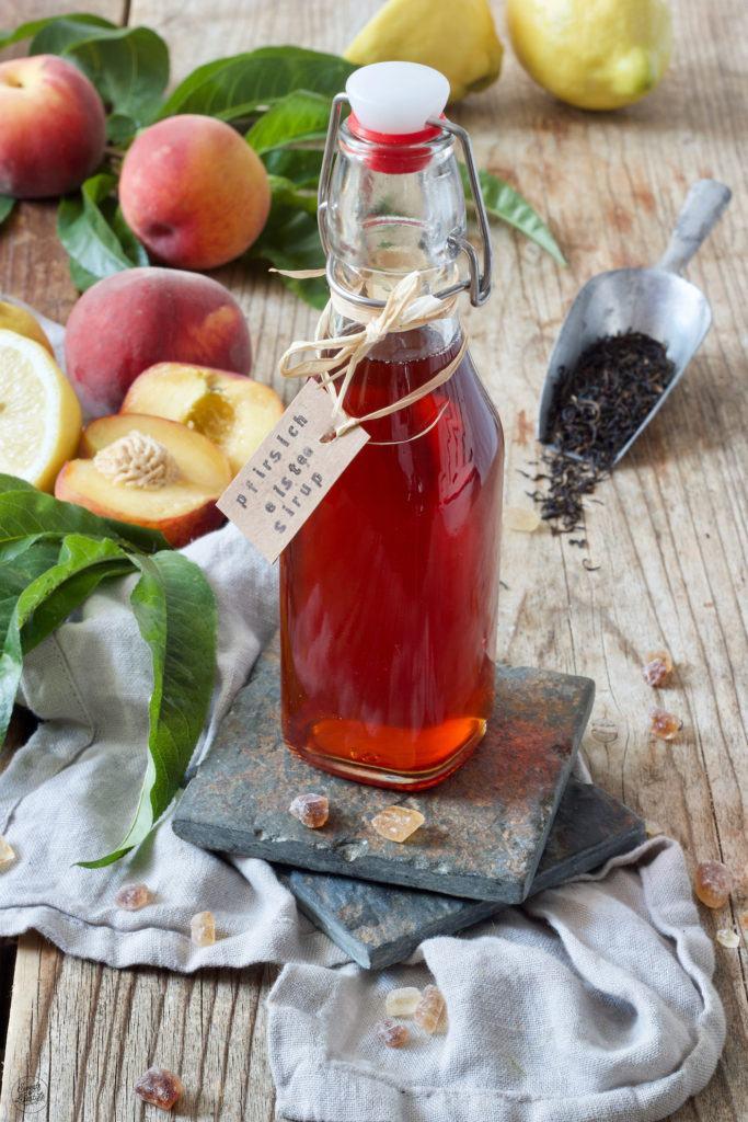 Pfirsich Eistee Sirup nach einem Rezept von Sweets & Lifestyle®