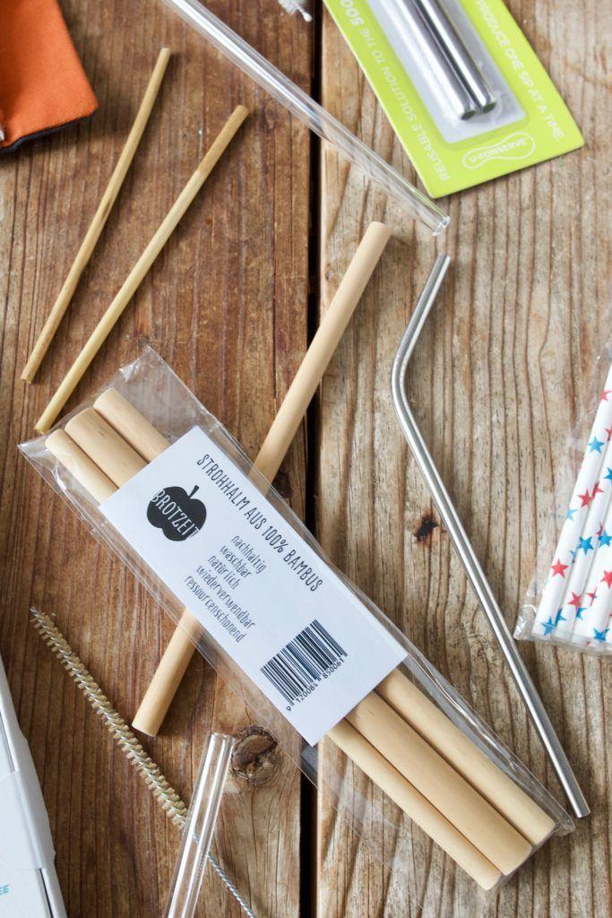 Bambusstrohhalm als Alternative zum Plastikstrohhalm