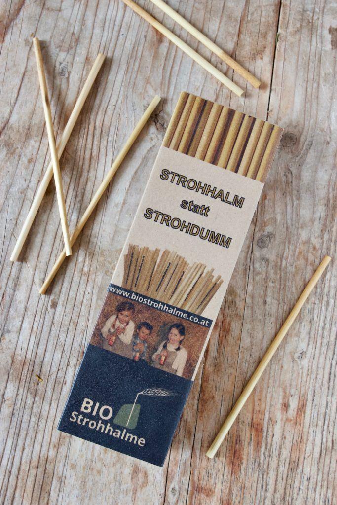 Bio Strohhalme aus Stroh als umweltfreundliche als Alternative zum Plastikstrohhalm