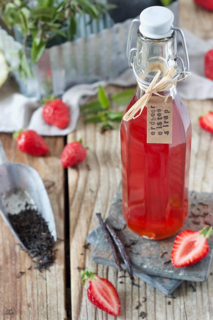 Erdbeer Eistee Konzentrat nach einem Rezept von Sweets & Lifestyle®