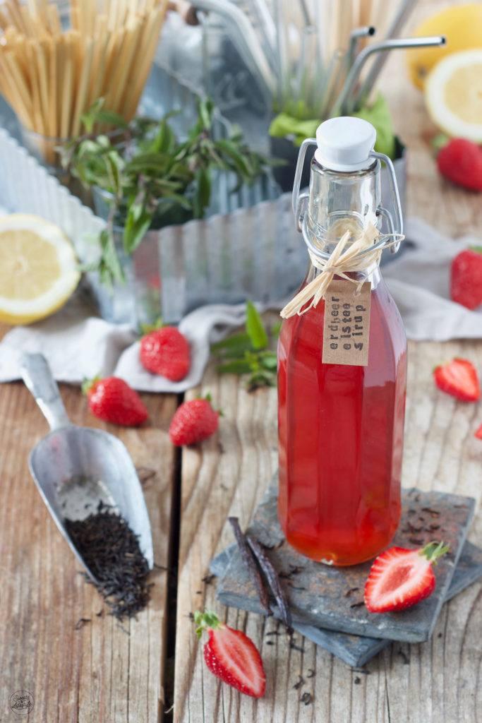 Erdbeer Eistee Sirup nach einem Rezept von Sweets & Lifestyle®