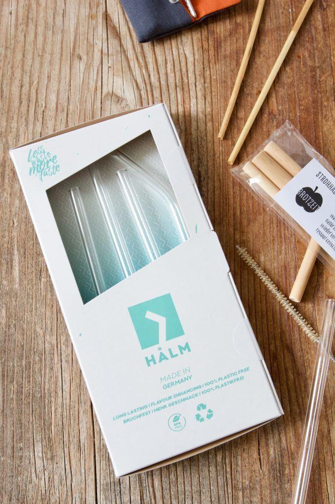 Glasstrohhalm als umweltfreundliche als Alternative zum Plastikstrohhalm