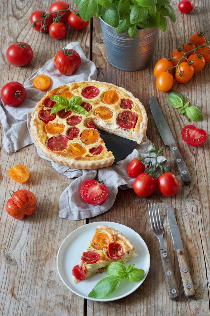 Leckere Tomaten Quiche mit Ziegenfrischkäse nach einem Rezept von Sweets & Lifestyle-