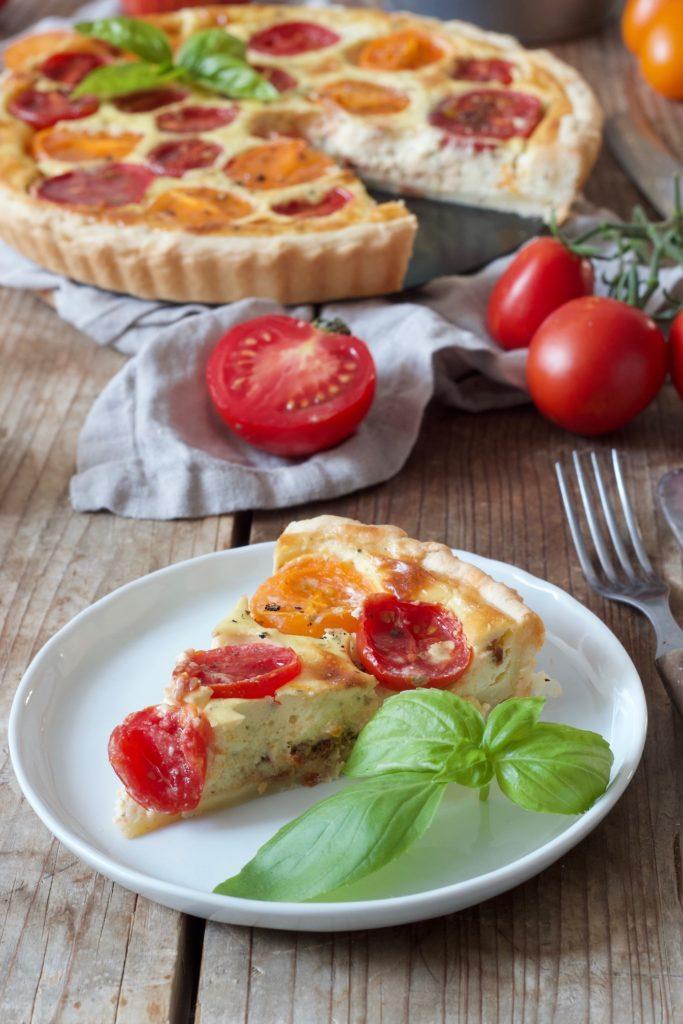 Leckere Tomaten-Quiche mit Ziegenkäse nach einem Rezept von Sweets & Lifestyle®