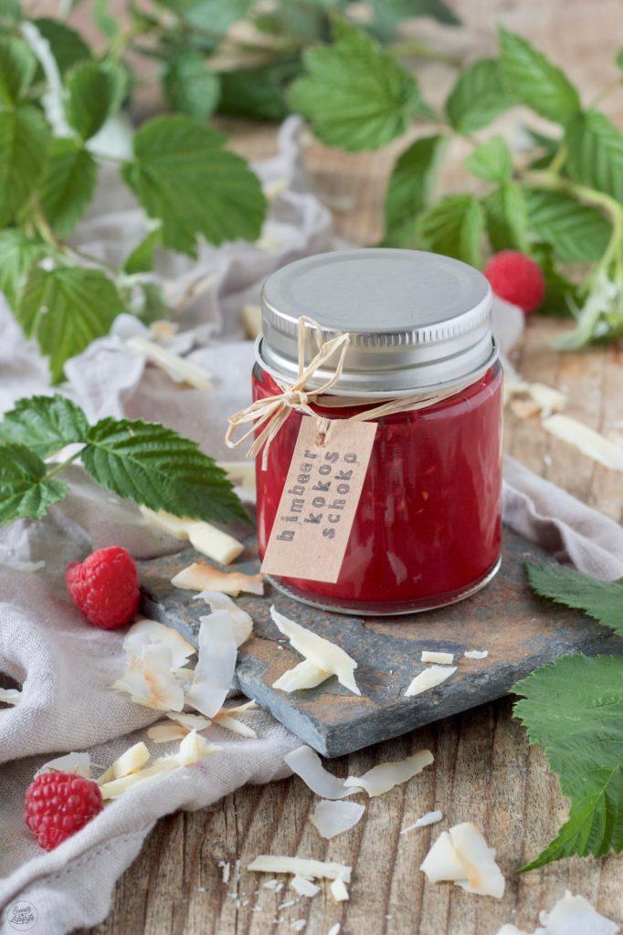 Himbeer-Kokos-Marmelade mit Kokosblütenzucker gemacht von Sweets & Lifestyle®