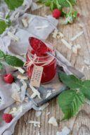 Himbeer-Kokos-Marmelade mit weißer Schokolade und Kokoslikör von Sweets & Lifestyle®
